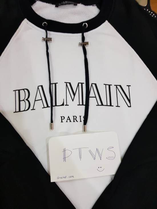 Balmain White Balmain Logo Sweater Size US S / EU 44-46 / 1 - 1