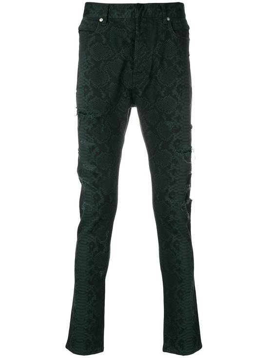 Balmain LAST DROP!! Size 36 - Distressed Snake Print Rockstar Jeans - FW17 - RARE Size US 36 / EU 52 - 13