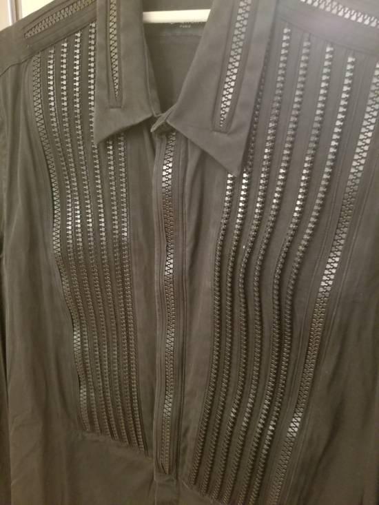 Givenchy Givenchy Zipper Tuxedo Bibb Style Black Shirt Size 40 Euro 15 3/4 Zip Detail Size US M / EU 48-50 / 2 - 7