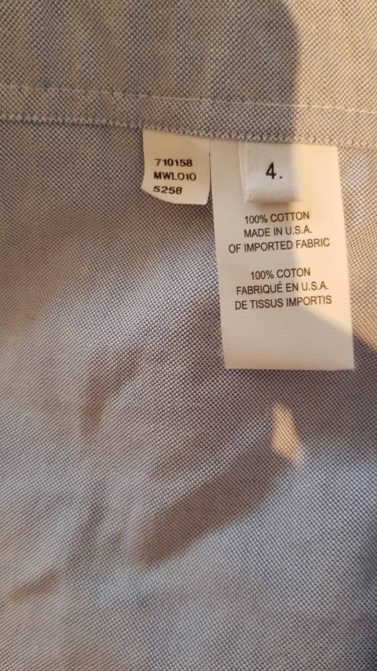 Thom Browne brand new blue shirt with cosgrain Size US XL / EU 56 / 4 - 3