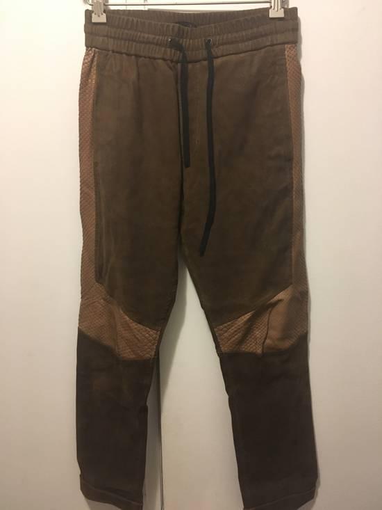 Balmain SS13 Python Leather Biker Pants Size US 30 / EU 46 - 2