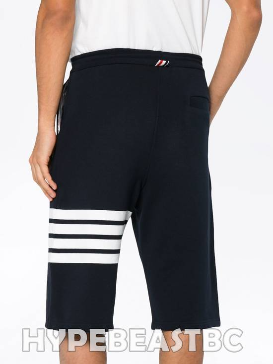 Thom Browne THOM BROWNE Classic Sweat Shorts 4-Bar Stripe Logo, TB Size 2, Navy, NWT, NO DROP ! Size US 32 / EU 48 - 1