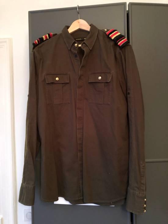 Balmain Shoulder Detailed Military Inspired Shirt Size US L / EU 52-54 / 3