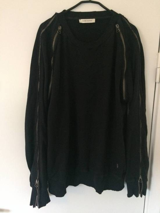 Balmain distressed asymmetrick zip sweatshirt Size US XL / EU 56 / 4