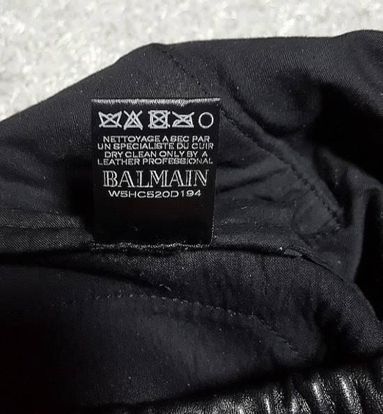 Balmain Leather Black Training Biker Size US 30 / EU 46 - 11