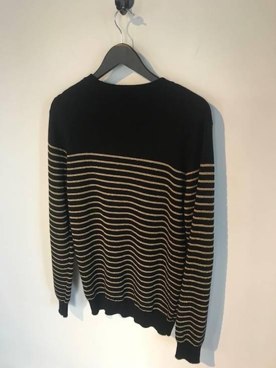Balmain Balmain Black Gold Striped Wool Sweater Size US L / EU 52-54 / 3 - 1