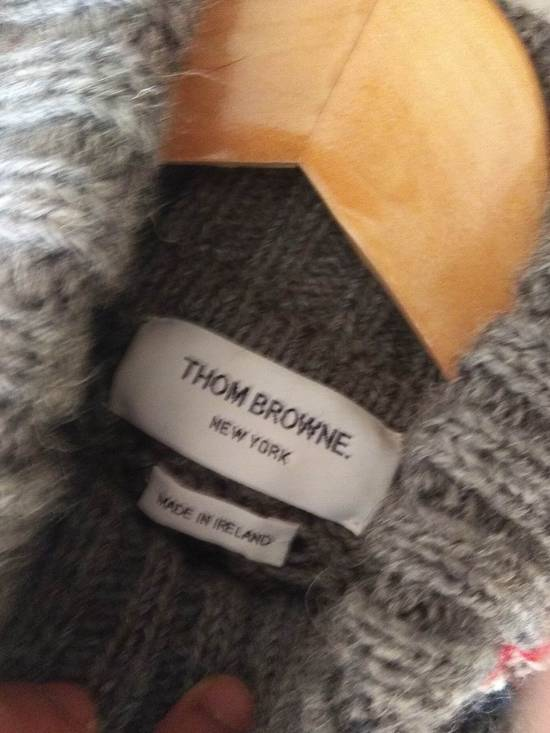Thom Browne Thom Browne Grey Aran Roll Neck Knit size 3 Size US M / EU 48-50 / 2 - 3