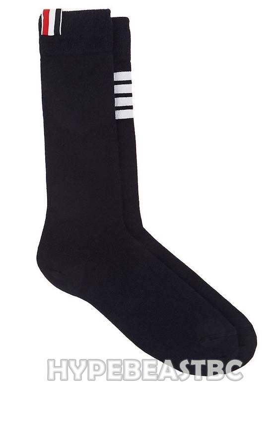 Thom Browne THOM BROWNE Socks 4-Bar Cashmere Silk Mid-Calf Socks, Navy, NWT Size ONE SIZE