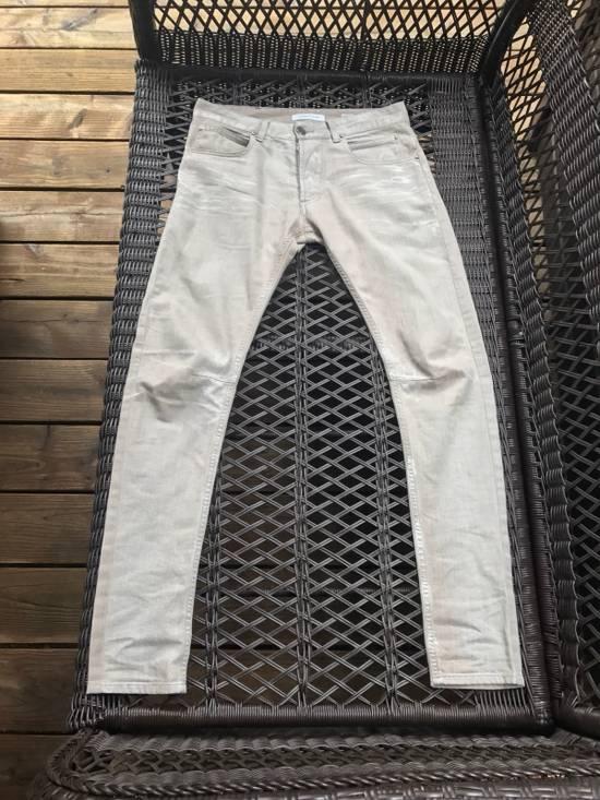 Balmain Balmain White Paint Wash Jeans Size US 29