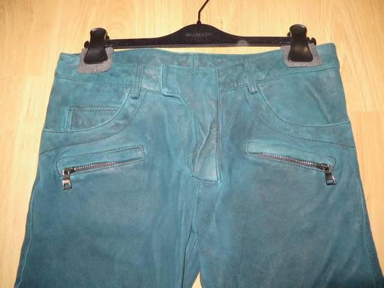 Balmain Suede biker pants Size US 34 / EU 50 - 4
