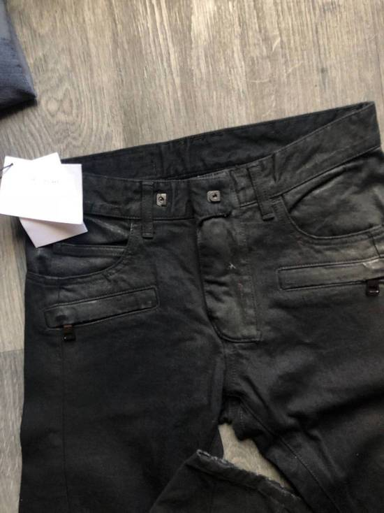 Balmain Balmain Authentic $1090 Waxed Denim Biker Jeans Size 27 Slim Fit Brand New Size US 27 - 3
