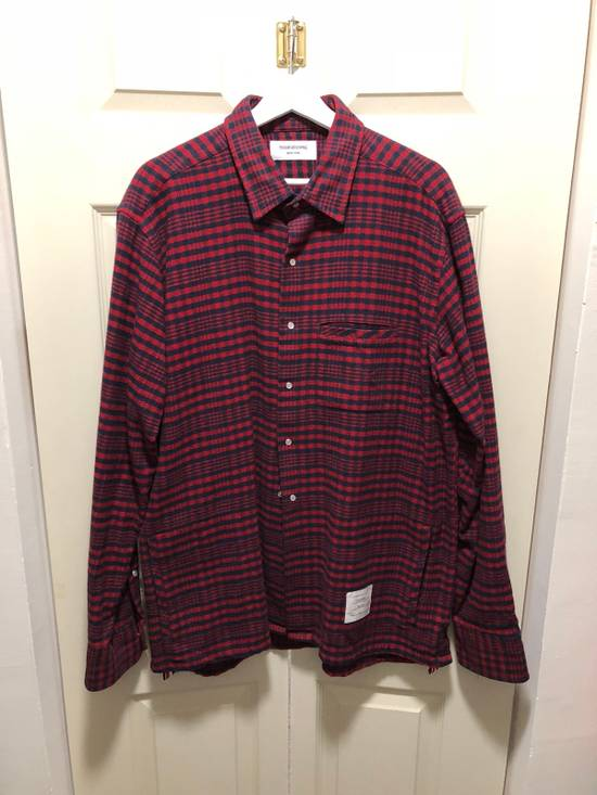 Thom Browne Thom Browne Flannel Shirt Jacket - TB 5 - Kanye Size US XL / EU 56 / 4 - 2
