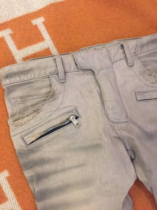 Balmain Grey Biker Denim Jeans Size US 30 / EU 46 - 5
