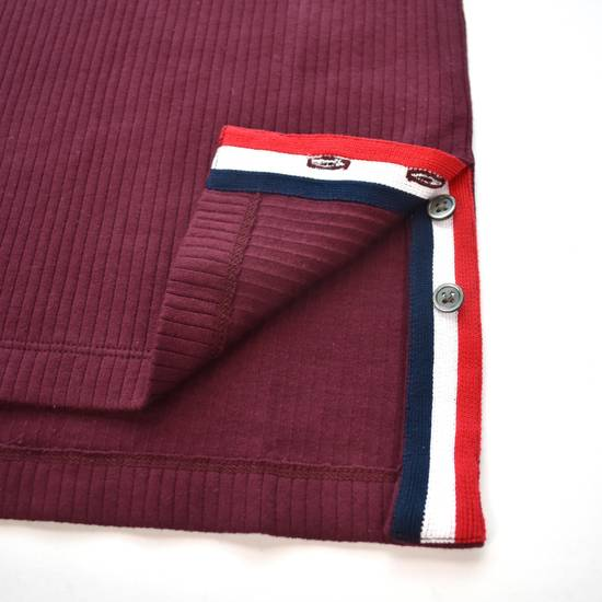 Thom Browne Wine Red Ribbed Henley Shirt NWT Size US XS / EU 42 / 0 - 8