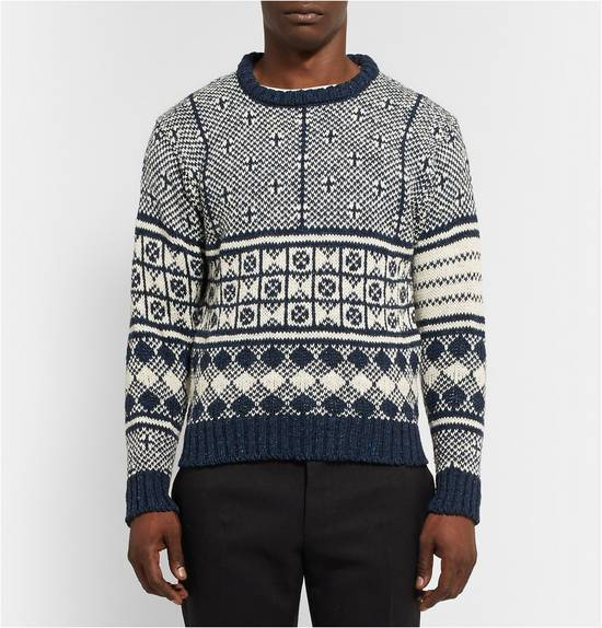 Thom Browne Jacquard-Knit Wool and Mohair-Blend Fairisle Sweater Size US M / EU 48-50 / 2 - 1
