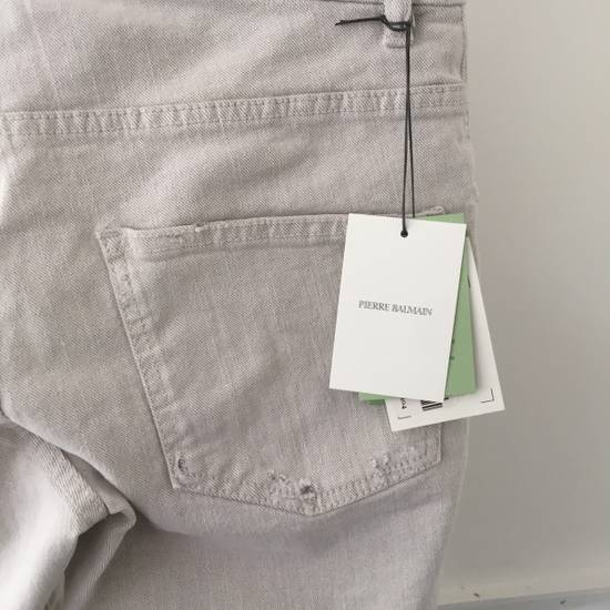 Balmain Distressed off-white biker jeans (NWT) Size US 31 - 2