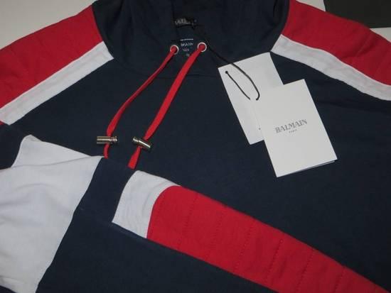 Balmain Panelled cotton biker hoodie Size US XS / EU 42 / 0 - 5