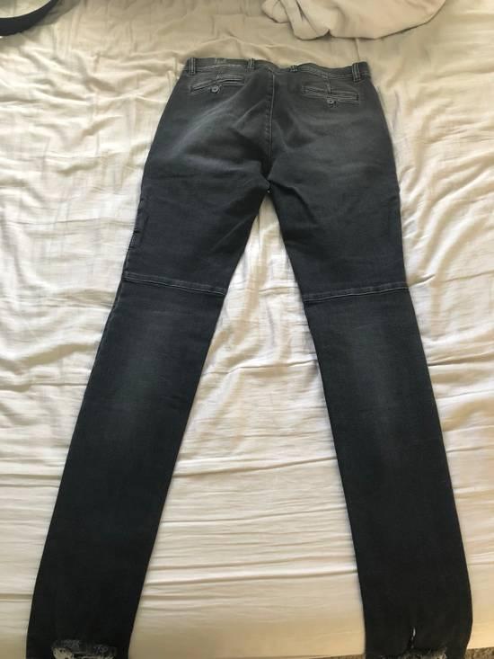 Balmain Black Balmain Biker Distressed Jeans Size US 32 / EU 48 - 1