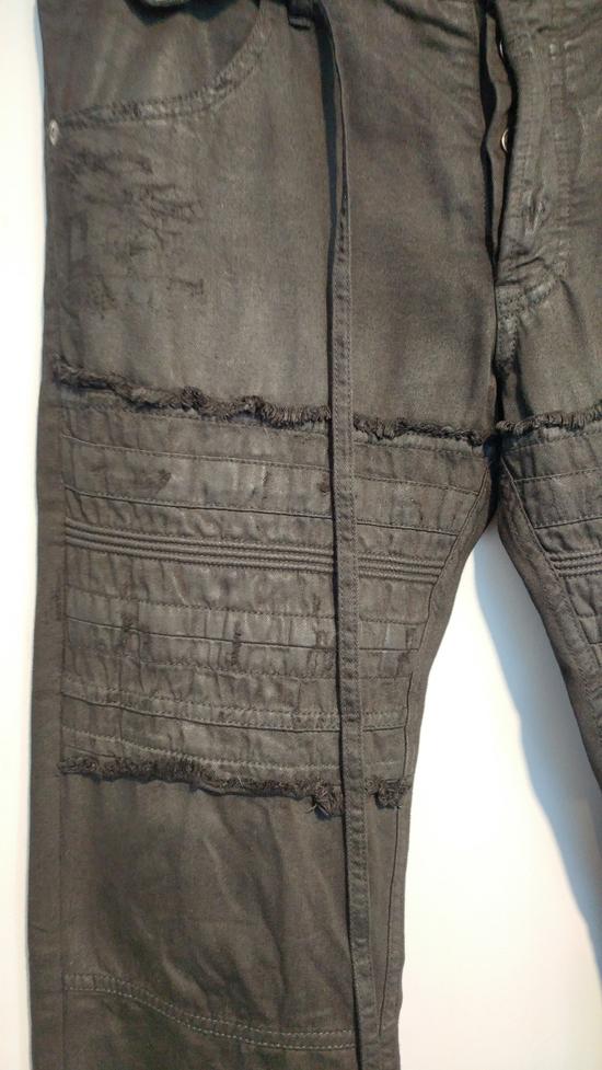 Julius SS11 Paneled Waxed Slim Jeans (sz 2, fits 31-32) Size US 32 / EU 48 - 2