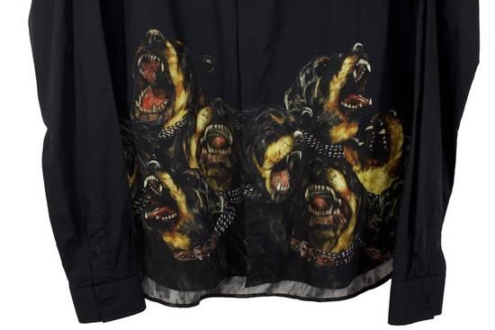 Givenchy Black Rottweiler Button-Up Shirt Size US M / EU 48-50 / 2 - 1