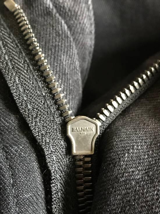 Balmain Black Biker Balmain Jeans Grey/Charcoal Washed Denim Size US 32 / EU 48 - 5