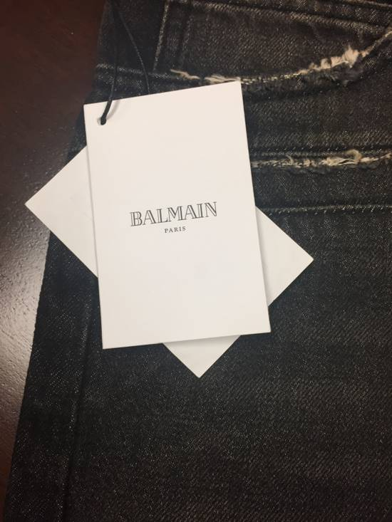 Balmain BIKER WASHED COTTON DENIM JEANS Black Size US 34 / EU 50 - 2
