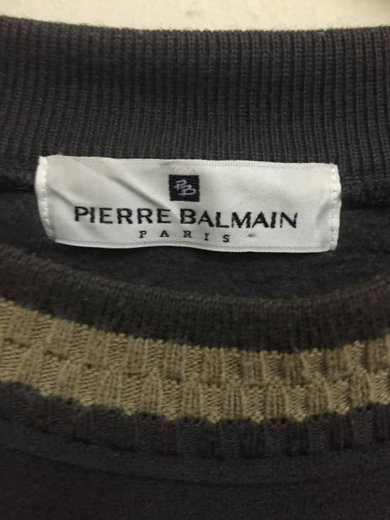 Balmain Vintage 90s BALMAIN PARIS by Pierre Balmain Embroidery big logo 3 Quarters crewneck jumper sweatshirts Size US M / EU 48-50 / 2 - 2