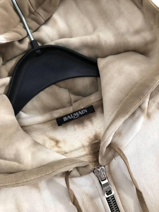 Balmain Balmain Creme/Sand Tie-Dye Zip Up Hoodie Size US L / EU 52-54 / 3 - 2