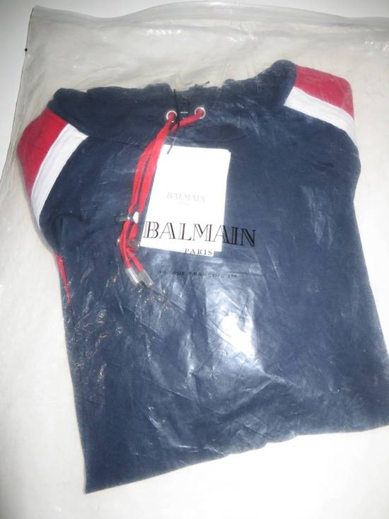 Balmain Panelled cotton biker hoodie Size US XS / EU 42 / 0 - 7