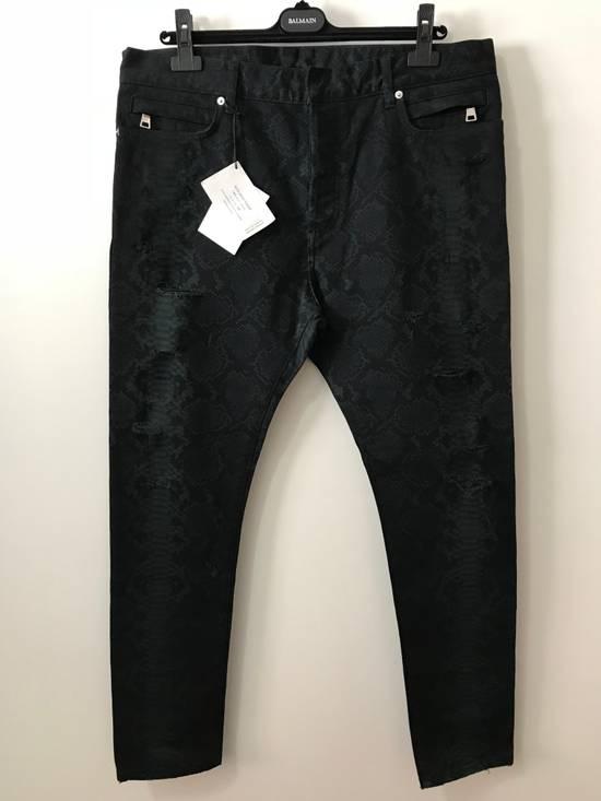 Balmain Size 36 - Distressed Snake Print Rockstar Jeans - FW17 - RARE Size US 36 / EU 52 - 1