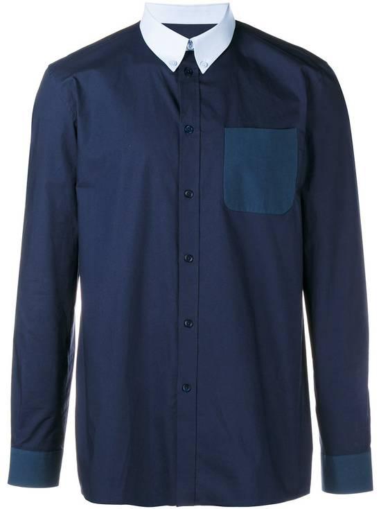 Givenchy Blue Contrast Pocket Shirt Size US L / EU 52-54 / 3 - 1