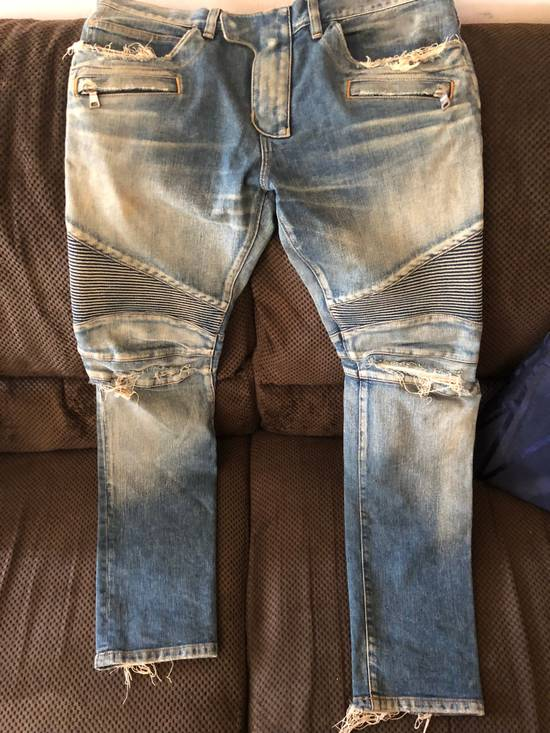 Balmain Balmain disrtressed biker jeans Size US 36 / EU 52 - 13