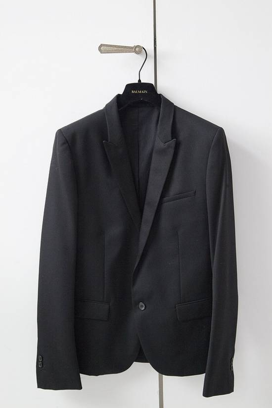 Balmain 2015 black tuxedo jacket Size 38R