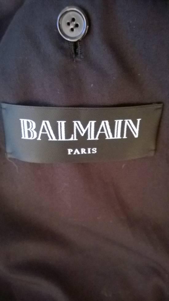 Balmain Sz 46 NEW SATIN WOOL BIKER JACKET Size US S / EU 44-46 / 1 - 6