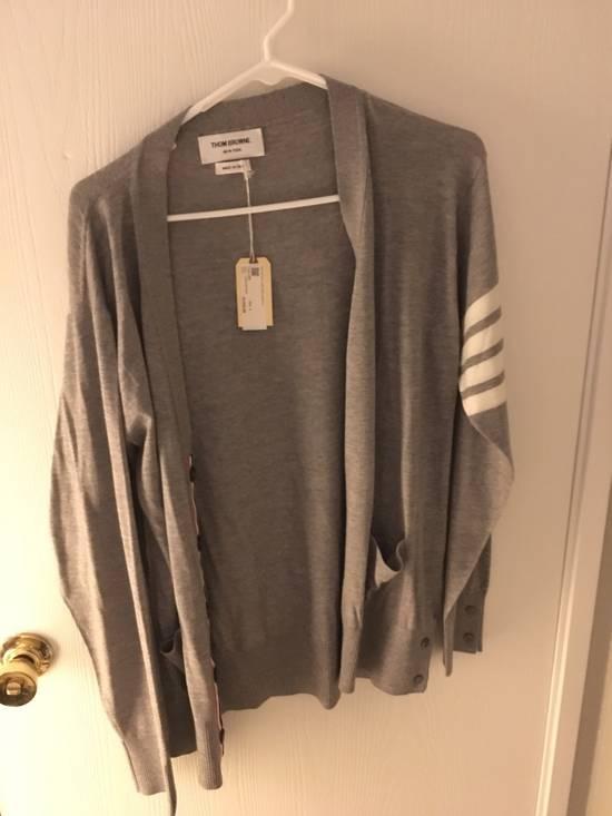 Thom Browne Grey Classic V-neck Cardigan Size US XL / EU 56 / 4
