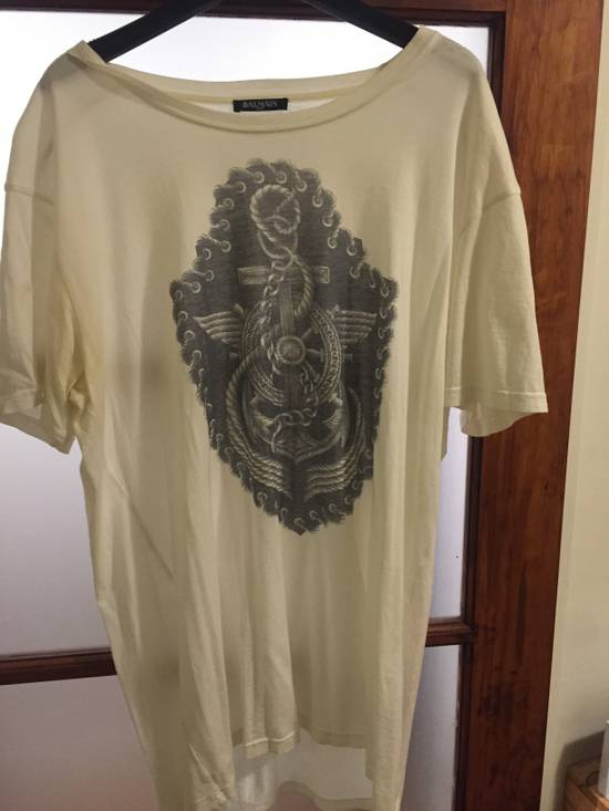 Balmain Balmain white t-shirt graphic Size US XL / EU 56 / 4
