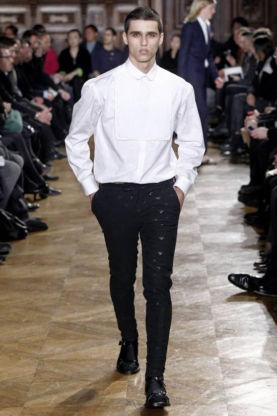 Givenchy Givenchy Tuxedo Shirt by Riccardo Tisci 2010 Runway Tuxedo Shirt (brand new) Size US S / EU 44-46 / 1 - 6