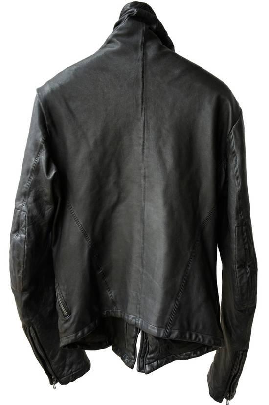 Julius JULIUS _7 ma high neck black lamb biker jacket slim fit Japan Size US S / EU 44-46 / 1 - 13
