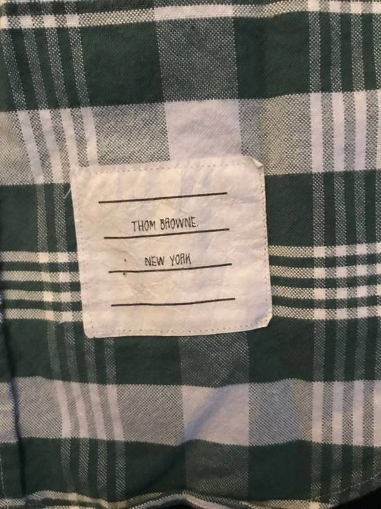 Thom Browne Long Sleeve Green Plaid Woven Shirt Size US XS / EU 42 / 0 - 1