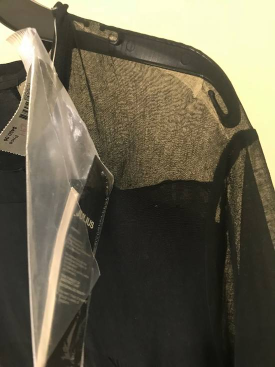 Julius 577CUM12 Cotton Sheer Jersey SS Black Tee Size US L / EU 52-54 / 3 - 4