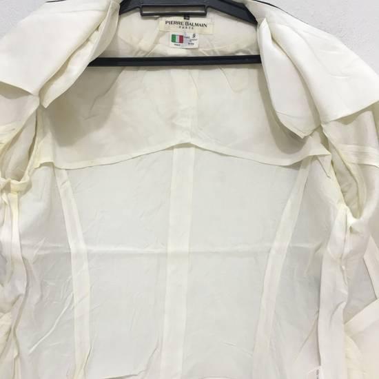 Balmain PIERRE BALMAIN PARIS Double Breasted Made In ITALY White Blouse Jacket Blazer Size 36S - 11
