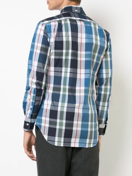 Thom Browne Large Madras Check Poplin Cotton Shirt Size US M / EU 48-50 / 2 - 10