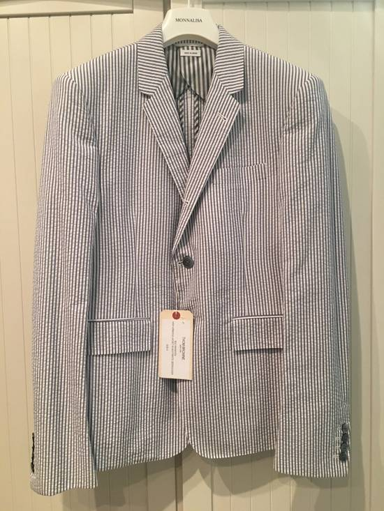 Thom Browne High Armhole Jacket in Navy/White Seersucker Size US M / EU 48-50 / 2