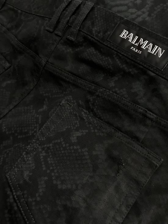 Balmain LAST DROP!! Size 36 - Distressed Snake Print Rockstar Jeans - FW17 - RARE Size US 36 / EU 52 - 4