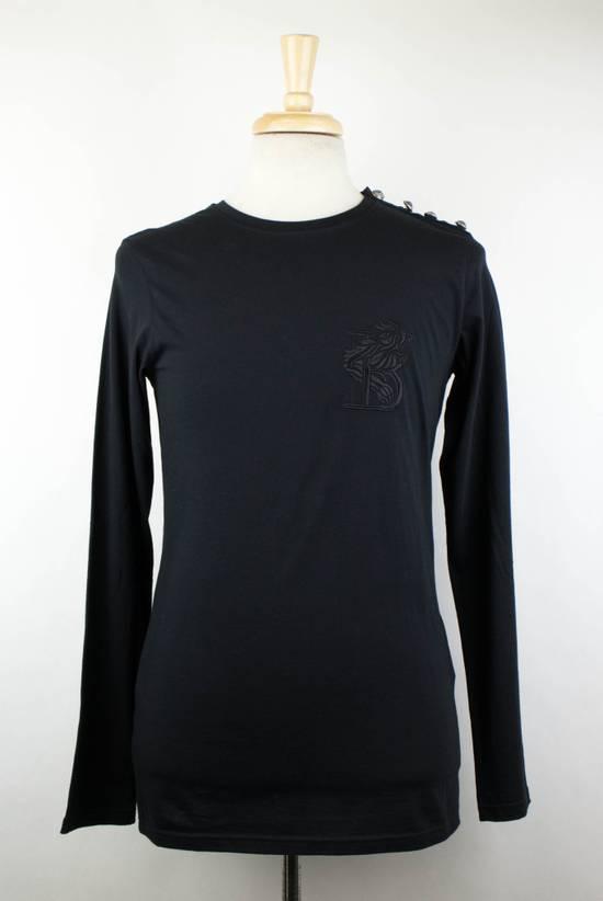 Balmain Black Lion Embroidered Long Sleeve Crewneck T-Shirt M Size US M / EU 48-50 / 2