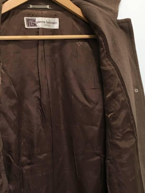 Balmain Vintage Pierre Balmain Paris Wool Long Coat Jacket Camel Brown Size US S / EU 44-46 / 1 - 14