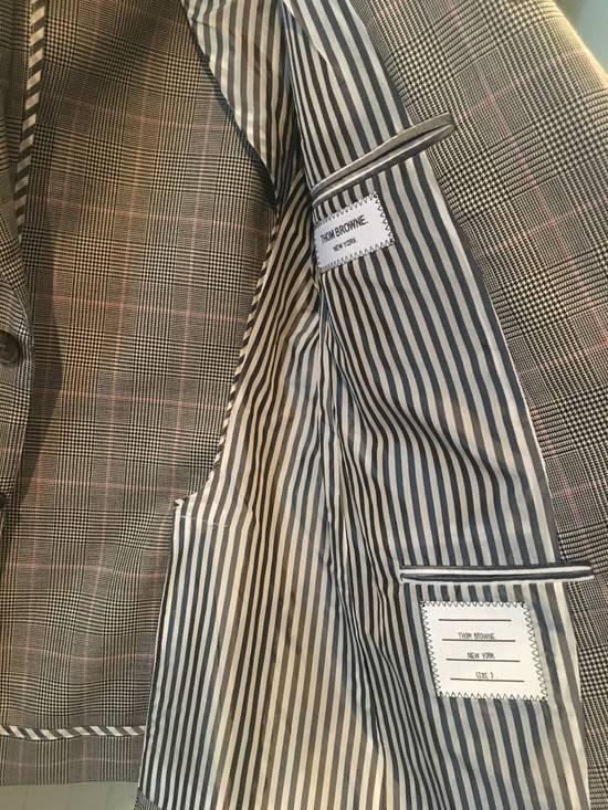 Thom Browne Men's Grey Black & White Prince Of Wales Wool Jacket Size US M / EU 48-50 / 2 - 2