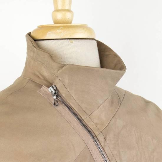 Julius 7 Men's Brown Lamb Skin Leather Zip-Up Jacket Size 3/M Size US M / EU 48-50 / 2 - 5