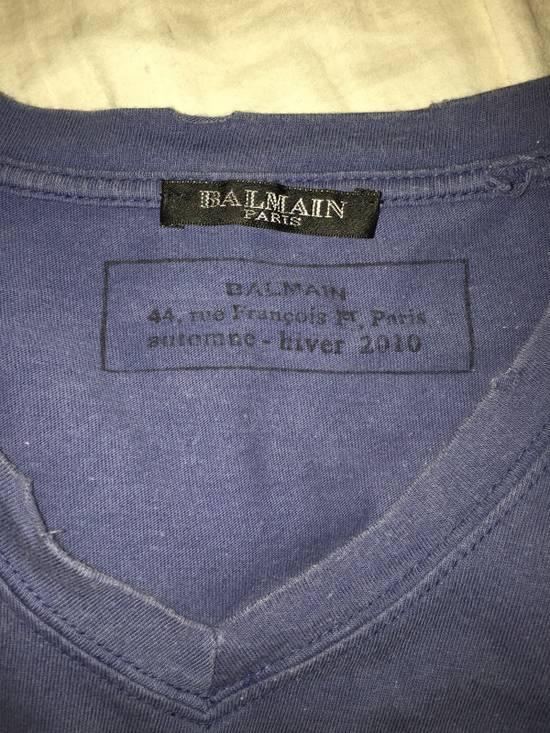 Balmain OG Balmain 2010 Decarnin blue V Neck Size US M / EU 48-50 / 2 - 2