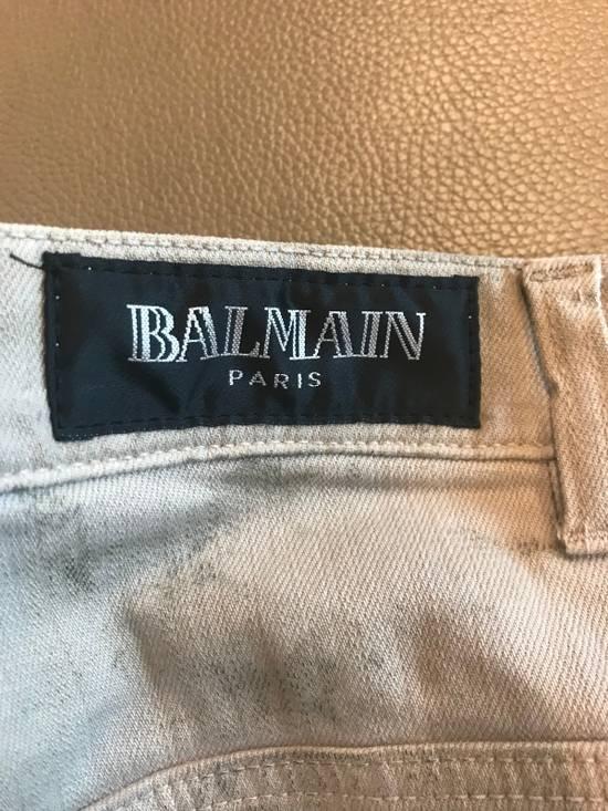 "Balmain FW11 Decarnin ""Dirty"" Skinny Jeans (dirty white/tan Color) Size US 30 / EU 46 - 6"
